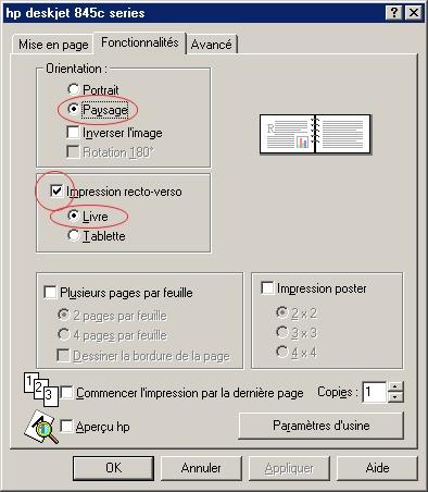 Imprimer recto verso en pdf